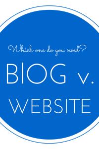 Blog v Website