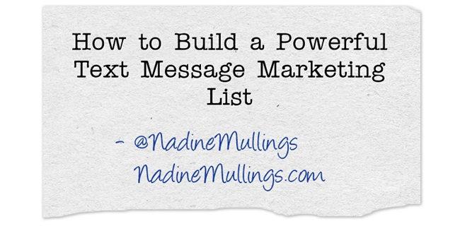 How to Build a Powerful Text Message Marketing List