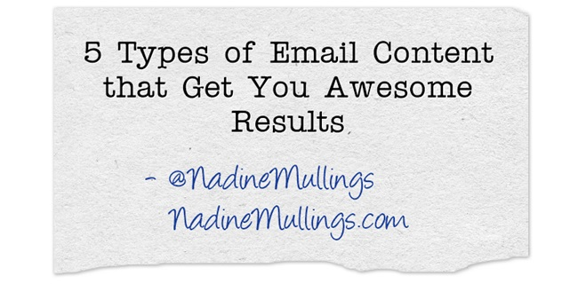 5 Types of Email Content that Get You Awesome Results