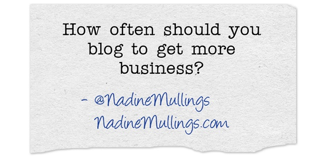 How often should you blog to get more business?