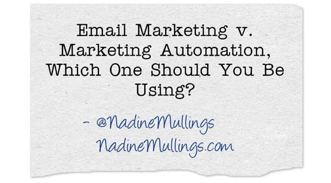 Email Marketing v. Marketing Automation, Which One Should You Be Using?
