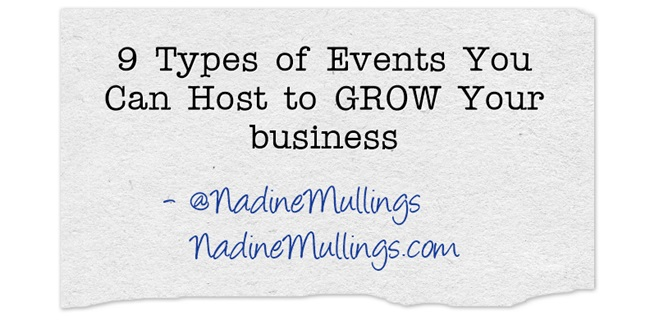 9 Types of Events You Can Host to GROW Your business