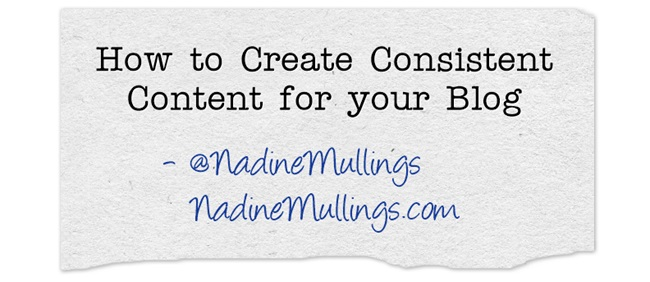 How to Create Consistent Content for your Blog