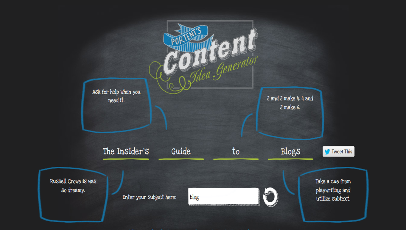 3 free tools you can use to create awesome blog headlines for Portent usage examples