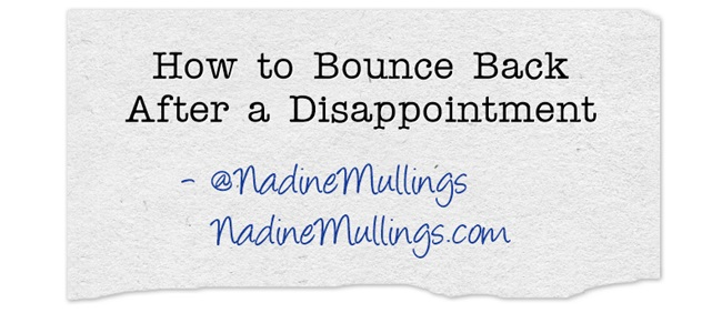 How to Bounce Back After a Disappointment
