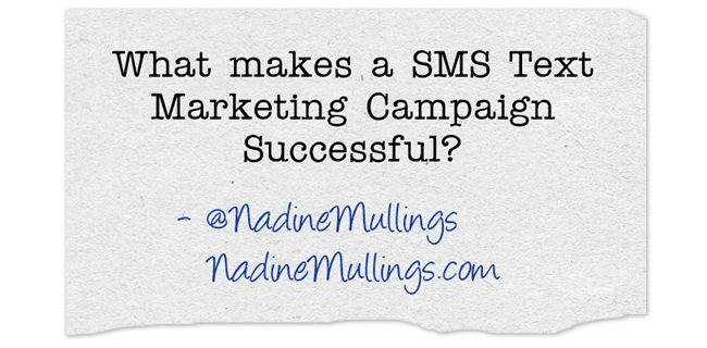 What makes a SMS Text Marketing Campaign Successful?