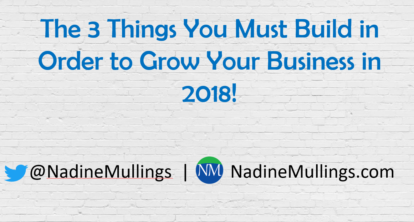 The 3 Things You Must BUILD in order to GROW Your Business!