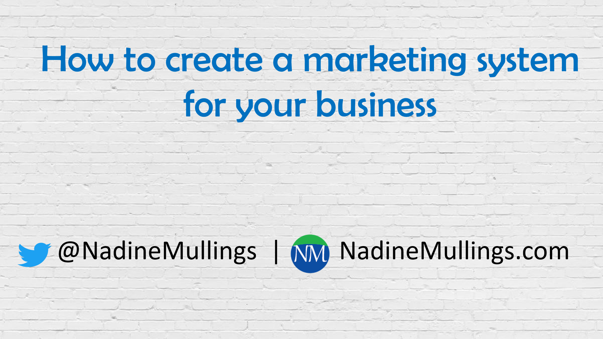How to create a marketing system for your business