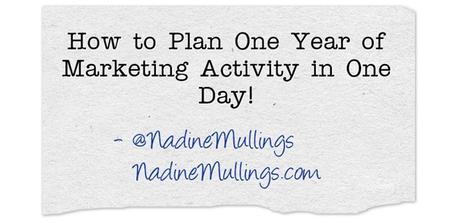 How to Plan One Year of Marketing Activity in One Day!
