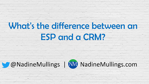 What's the difference between an ESP and a CRM