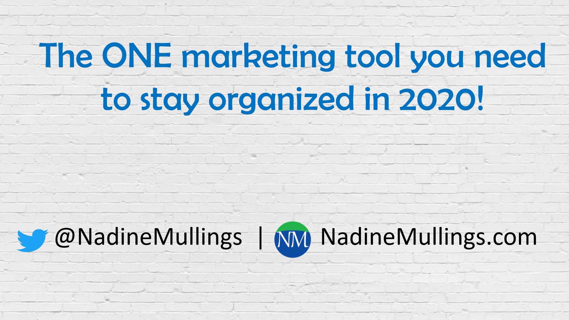 THE ONE MARKETING TOOL YOU NEED TO STAY ORGANIZED IN 2020!