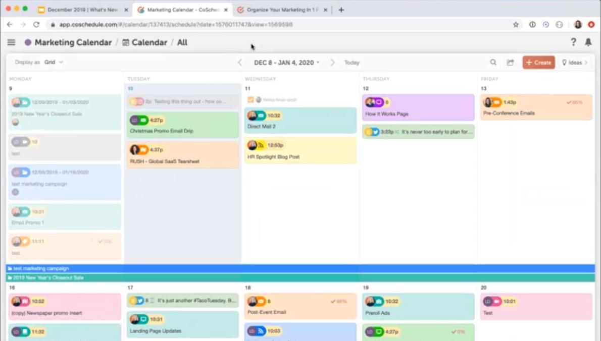 CoSchedule Calendar Screenshot